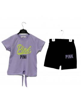Girls Pink Printed Team