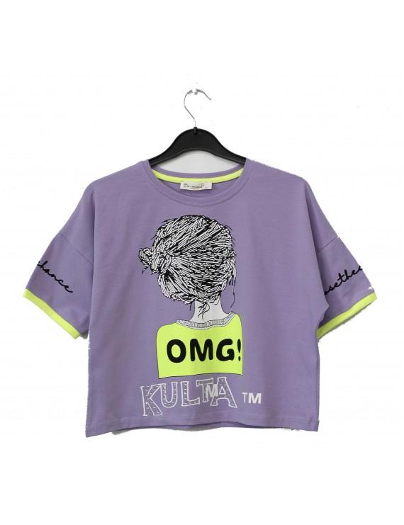Girls OMG Kulta Printed T-Shirt